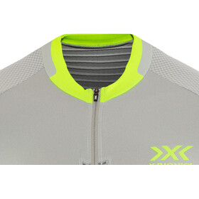 X-Bionic Invent 4.0 Bike Race Zip Jersey SH SL Men, dolomite grey/phyton yellow